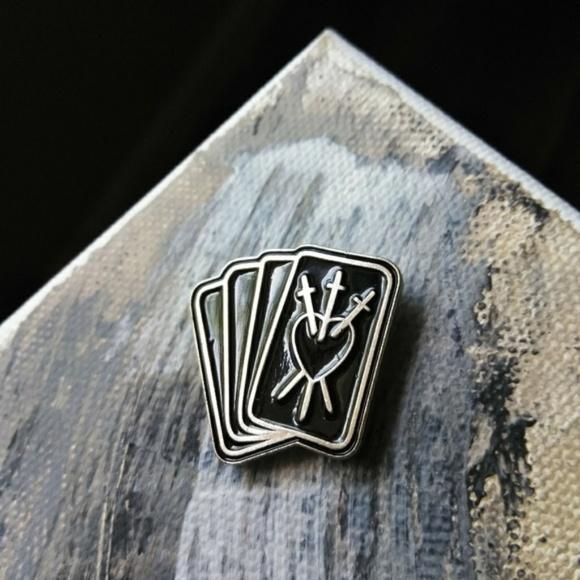 FLASH SALE! Tarot Deck Pin Brooch Gothic Goth NWT